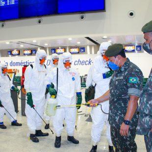 Fortaleza Airport é desinfectado em parceria com o Exército